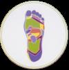 Visuel pied avec zones de pression en reflexologie